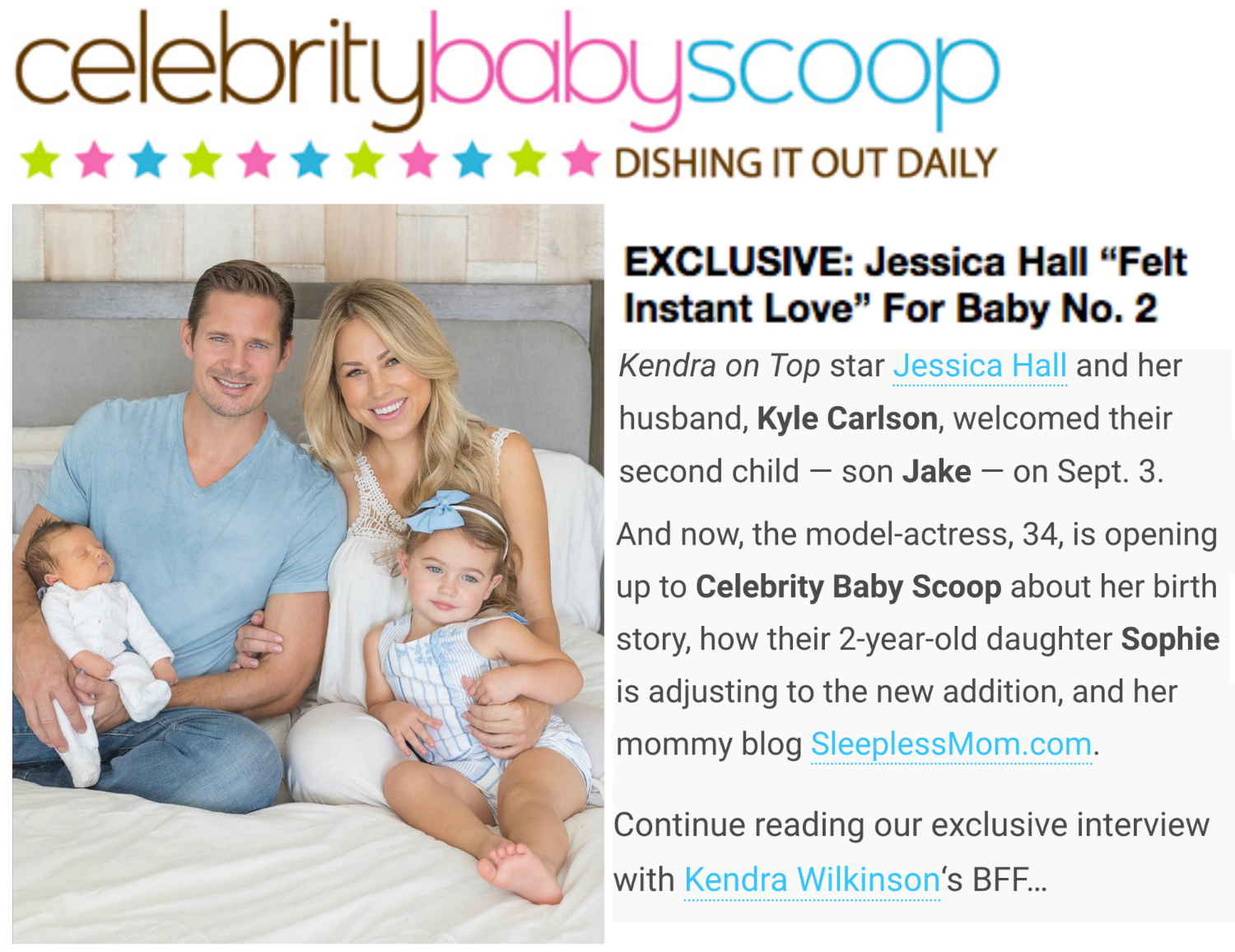 Exclusive celebrity baby scoop with Jessica Hall