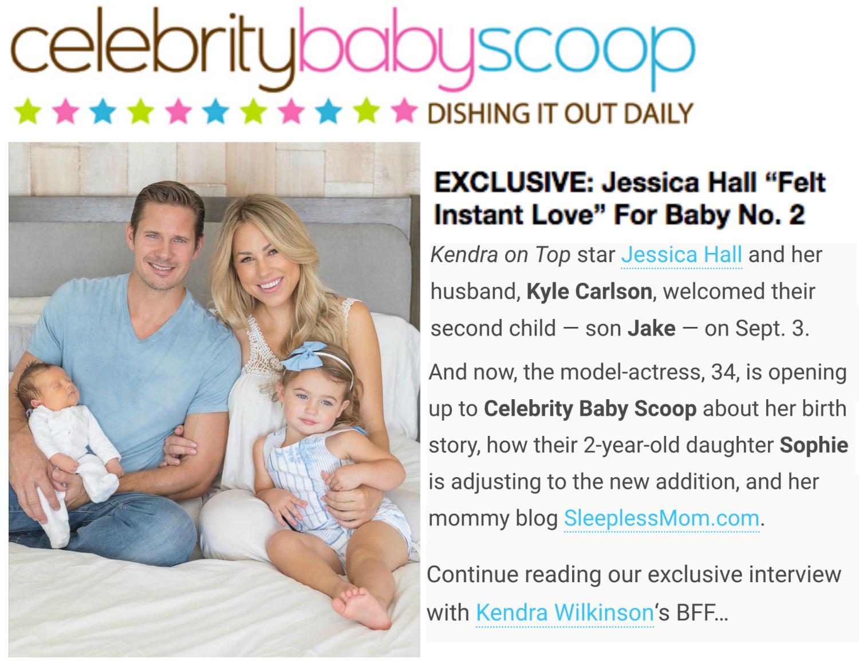Exclusive celebrity baby scoop with Jessica Hall