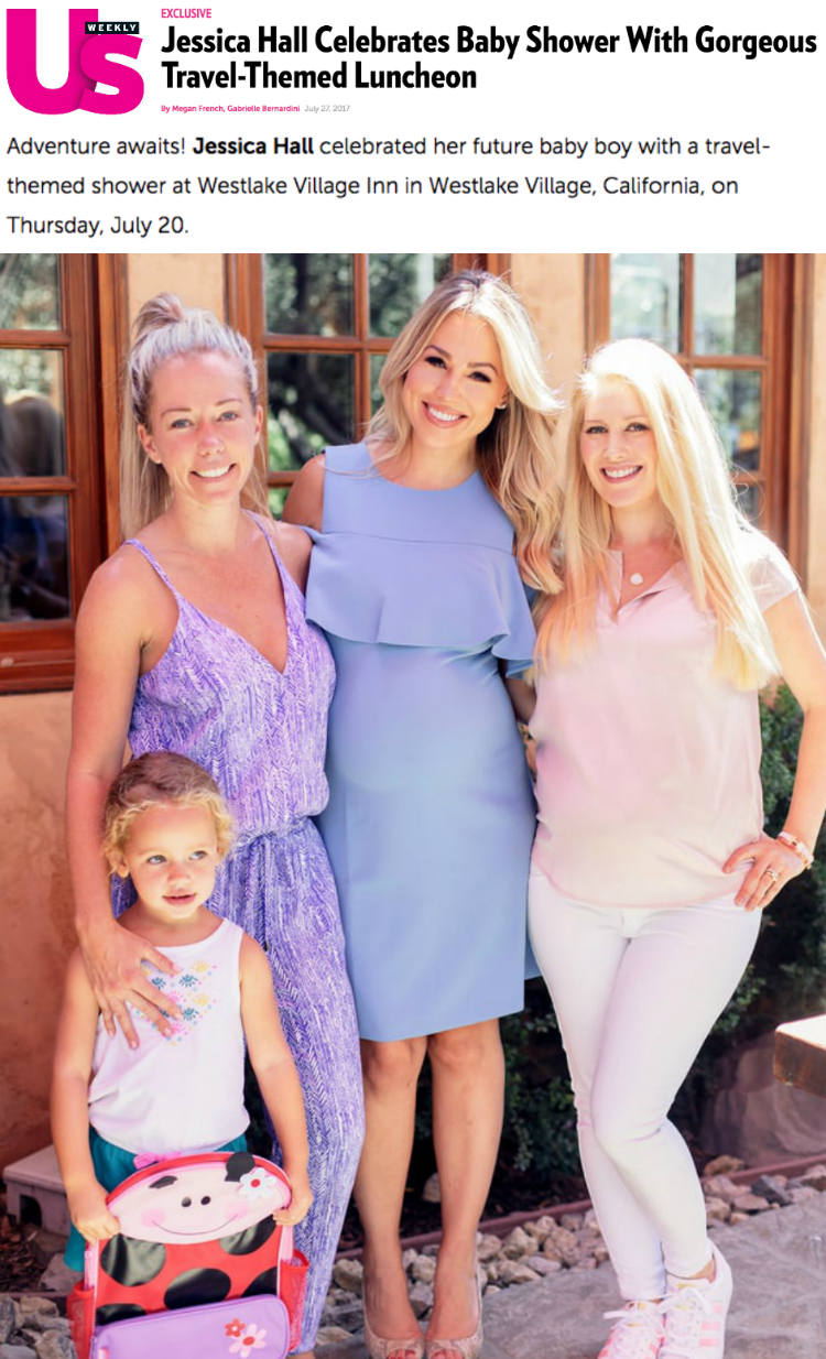 US Weekly - Inside Jessica Hall's Travel-Themed Baby Shower