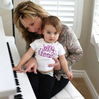Little ones love to express themselves through music. Teaching your toddler or preschooler happy and silly songs with just a few lines, teaches repetition and memorization.