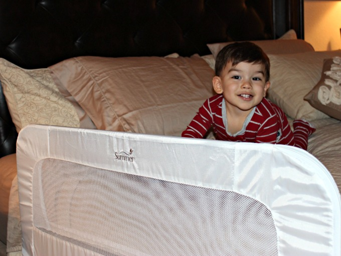 Convertible Bed Rail that works on a crib, toddler bed, and a full size bed.