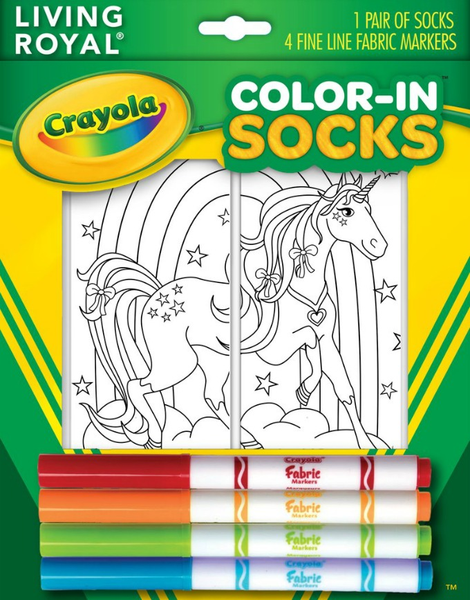Crayola Color-In Socks by Living Royal