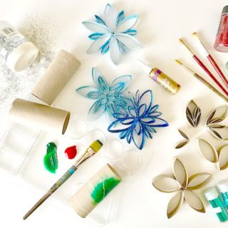 DIY Paper Tube Ornaments | Kid Friendly Ornaments