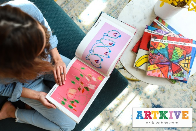 Artkive turns your children's art into a beautiful book.