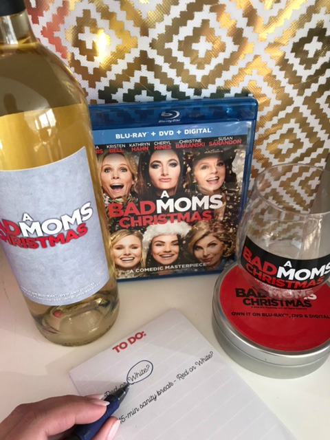 A Bad Moms Christmas DVD + Wine