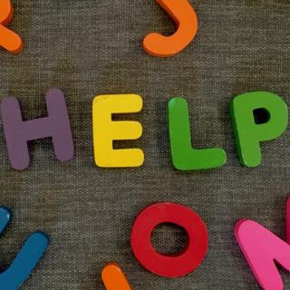 Help written in alphabet toys