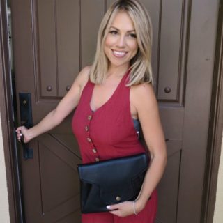 Jessica Hall with Korédé handbag