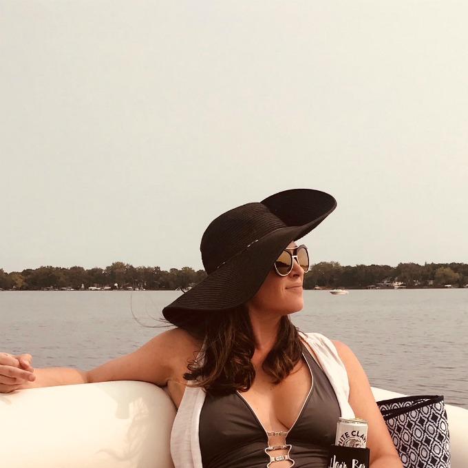 Lynnaya on a boat
