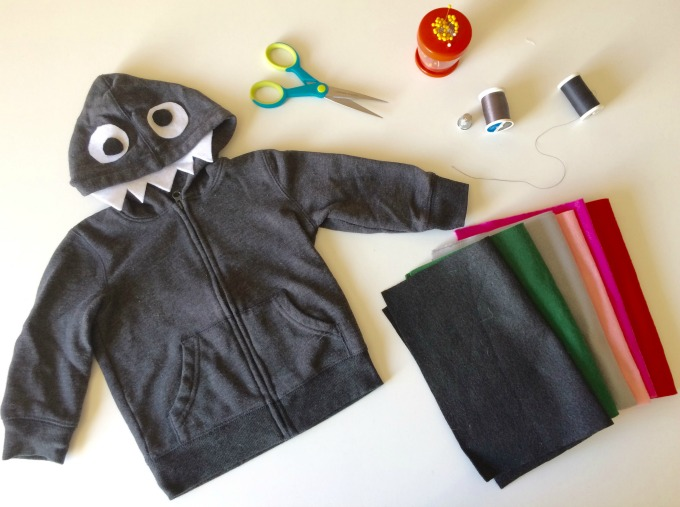 DIY Monster Hoodie for Halloween