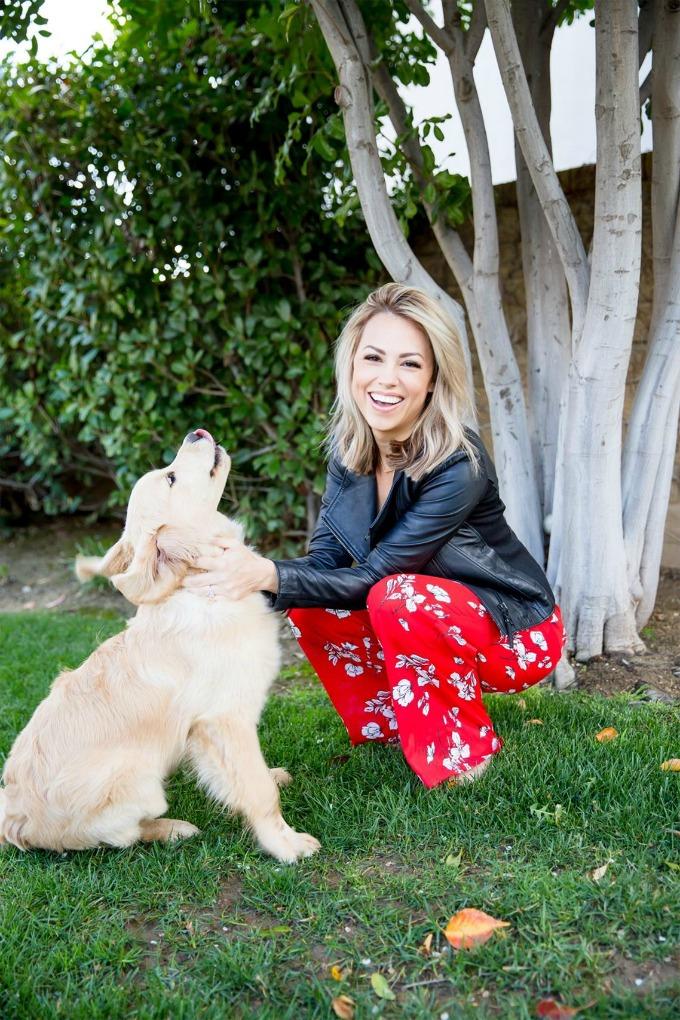 Jessica Hall and dog, Ryder