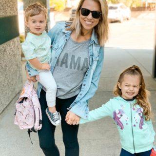 Jessica Hall and kids wearing StitchFix