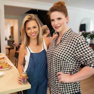 Jessica and Caitlin at Cali'flour Foods event