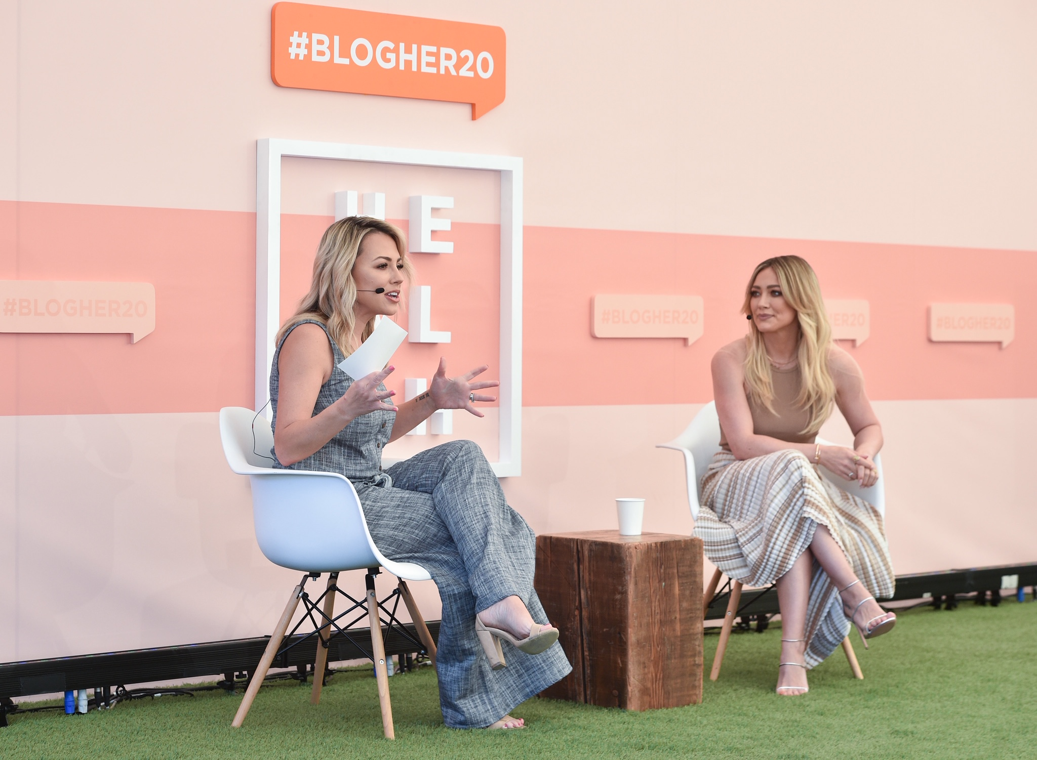 Jessica Hall and Hilary Duff at BlogHer20