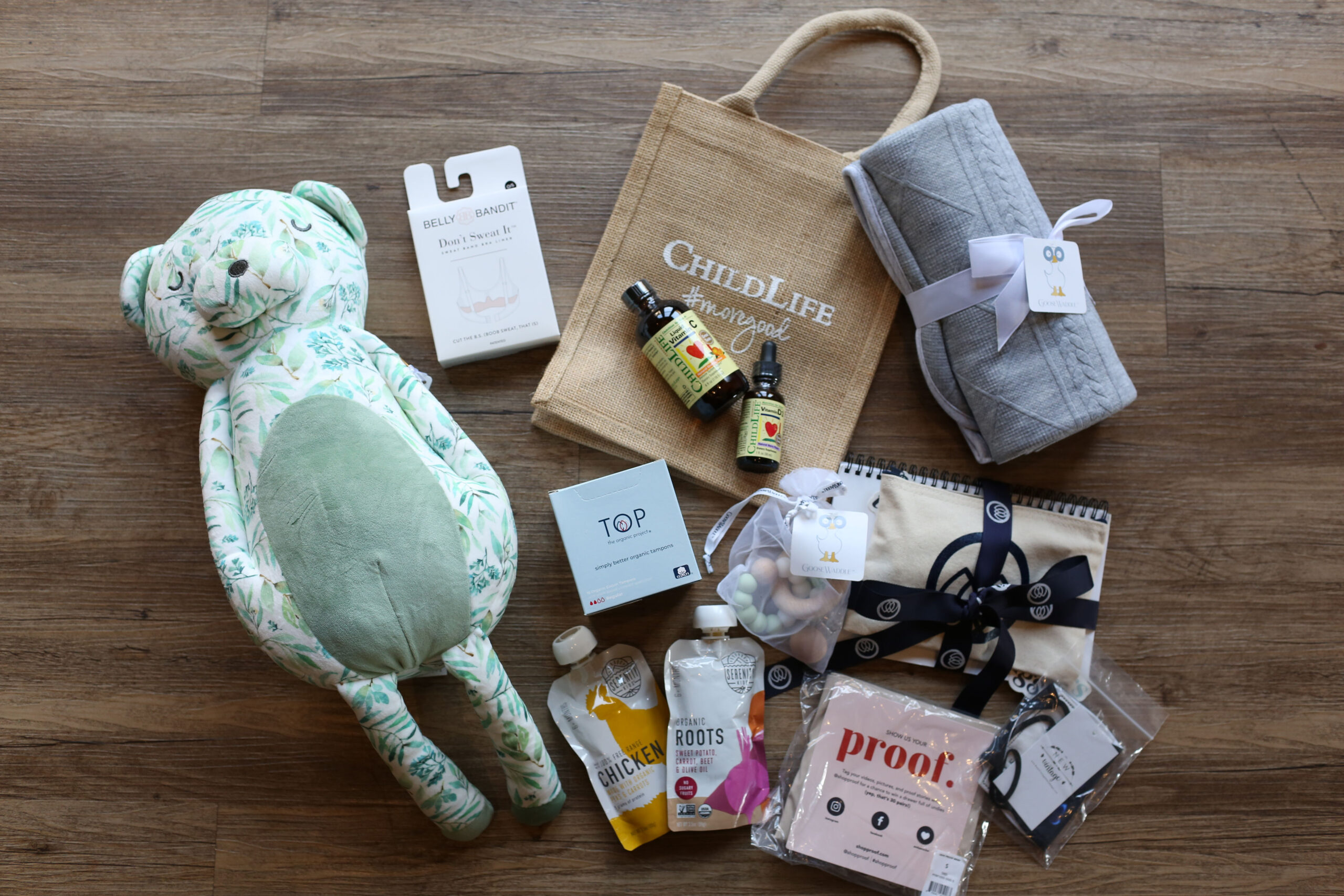 items from gift bag