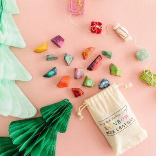 Rainbow Rocks Crayons