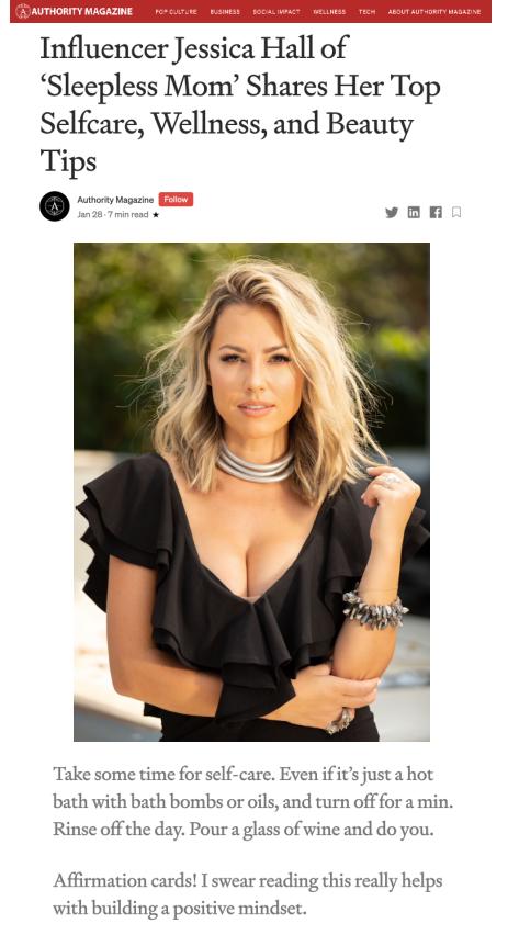 Authority Magazine Feature Jessica Hall