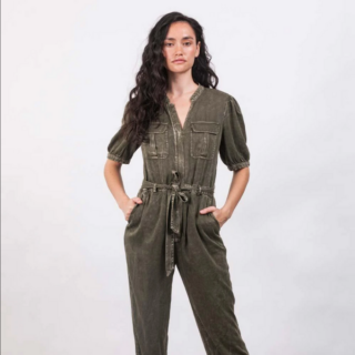 MAUBY Everyday Jumpsuit in washed olive