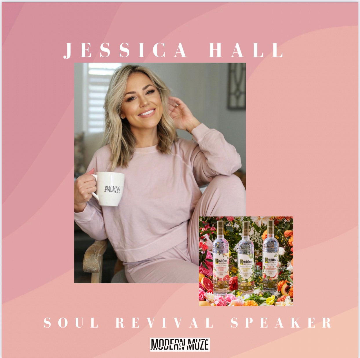 Jessica Hall pictured in a frame announcing Soul Revival Speaker with Modern Muze.