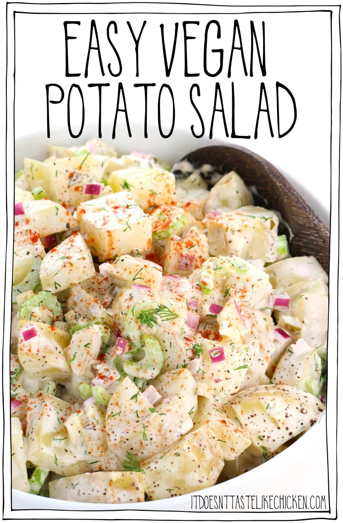 Easy Vegan Potato Salad.